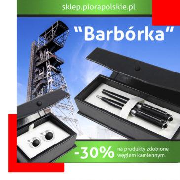 """Zbliża się """"Barbórka""""! Rabat 30% naprodukty zdobione węglem!"""