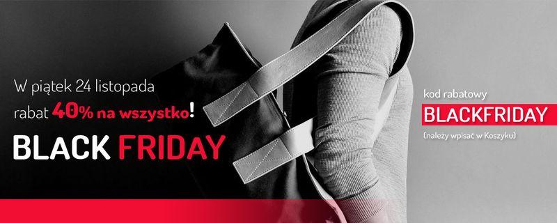 Black Friday również u nas! Rabat 40% na wszystko!