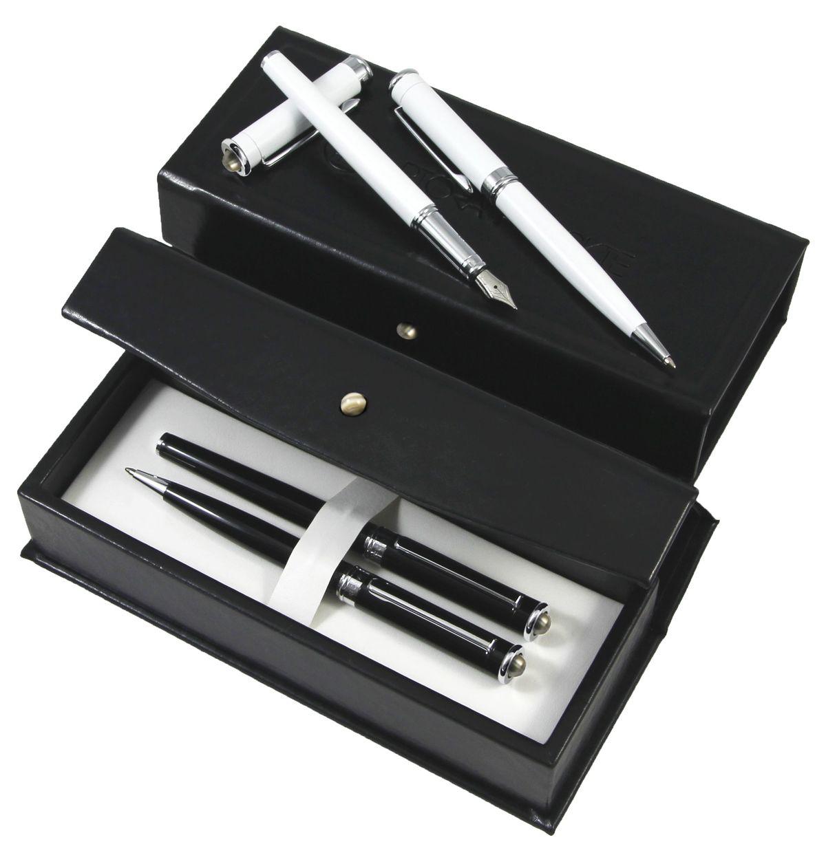 Pióro wieczne zdobione krzemieniem pasiastym | Długopis z krzemieniem pasiastym