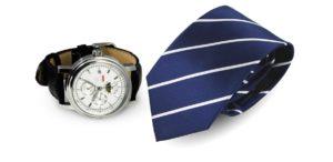 Krawat jedwabny   Zegarek męski