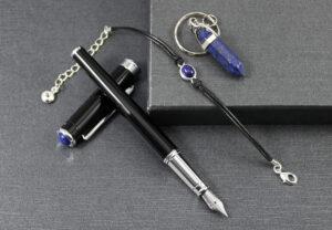Amulet dla zodiakalnego Barana | Pióro z lapis lazuli
